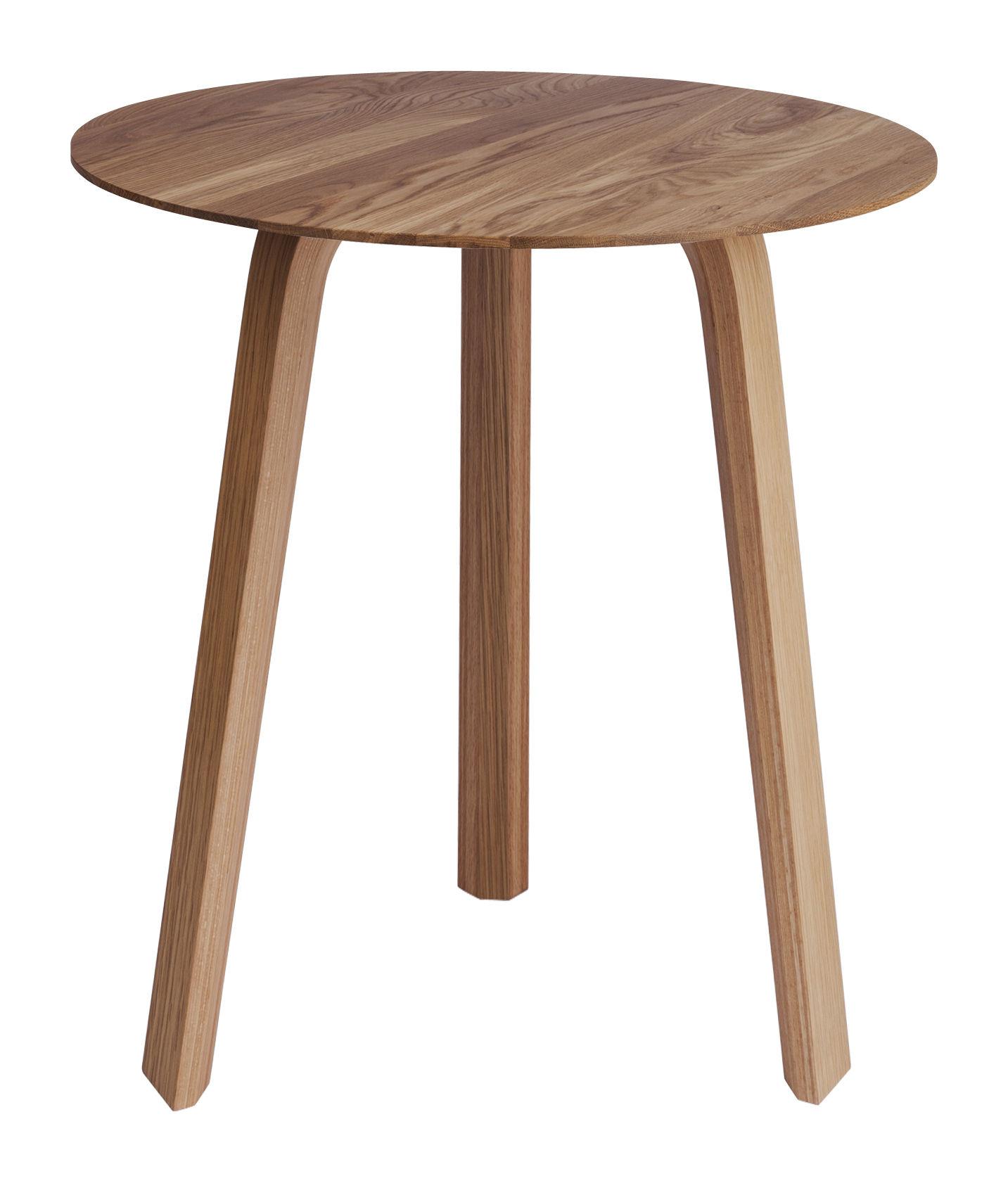Mobilier - Tables basses - Table basse Bella / Ø 45 x H 49 cm - Hay - Chêne naturel - Chêne massif huilé