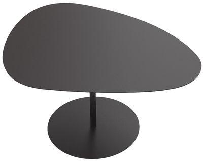 Table basse Galet n°2 / INDOOR - 58 x 75 - H 38,7 cm - Matière Grise noir en métal