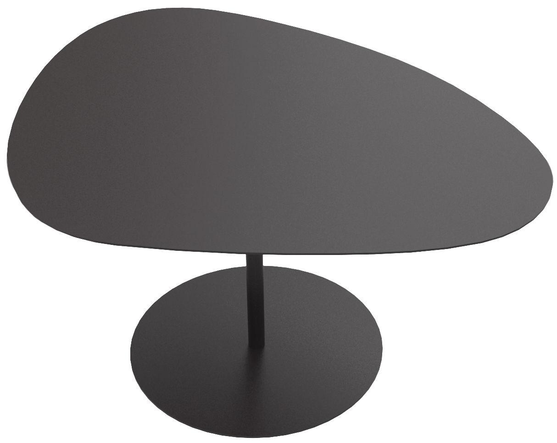 Mobilier - Tables basses - Table basse Galet n°2 / INDOOR - 58 x 75 - H 38,7 cm - Matière Grise - Noir - Acier