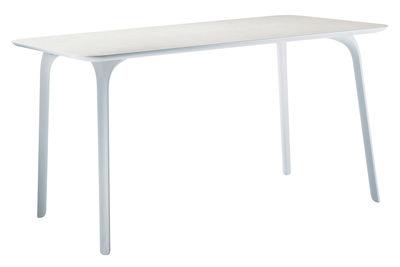 Rentrée 2011 UK - Bureau design - Table First / 140 x 80 cm - Pour l'intérieur - Magis - Pieds blancs/ plateau blanc - MDF verni, Polyamide