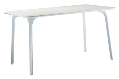 Mobilier - Tables - Table rectangulaire First / 140 x 80 cm - Pour l'intérieur - Magis - Pieds blancs/ plateau blanc - MDF verni, Polyamide
