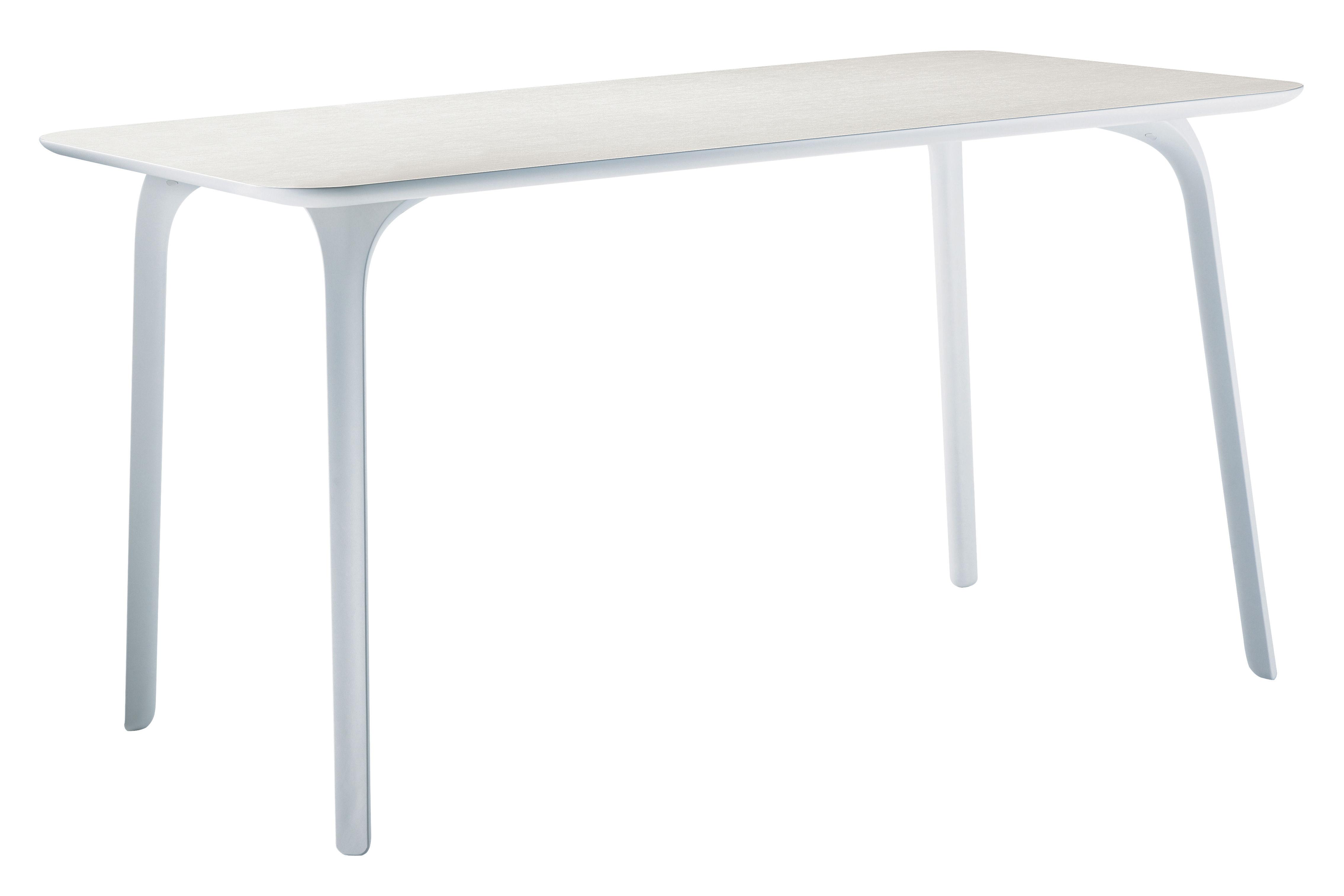 Rentrée 2011 UK - Bureau design - Table rectangulaire First / 140 x 80 cm - Pour l'intérieur - Magis - Pieds blancs/ plateau blanc - MDF verni, Polyamide