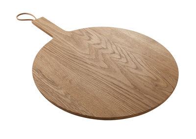 Cucina - Utensili da cucina - Tagliere - rovere / Tagliere da portata - Ø 35 cm di Eva Solo - Rovere - Pelle, Rovere massello