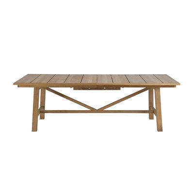 Outdoor - Tavoli  - Tavolo con prolunga Synthesis - / L 230 a 300 cm - Teck di Unopiu - Teack - Teck