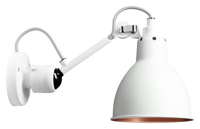 Lighting - Wall Lights - N°304 SW Wall light by DCW éditions - Diffuser : white / copper - Aluminium, Steel