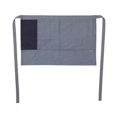 Kitchenware - Tea Towels & Aprons - Denim Apron - / Short - 2 pockets / Organic cotton by Ferm Living - Denim blue - Organic cotton