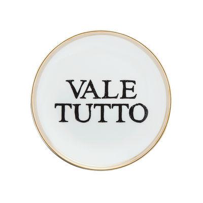 Assiette à dessert Vale tutto / Ø 15 cm - Bitossi Home blanc,noir,or en céramique