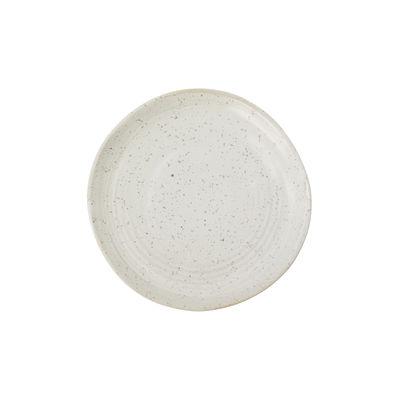 Arts de la table - Assiettes - Assiette à mignardises Pion / Ø 16 cm - Porcelaine mouchetée - House Doctor - Blanc-gris - Porcelaine émaillée