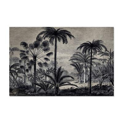Dekoration - Teppiche - Amazonia Außenteppich / Vinyl - 99 x 150 cm - PÔDEVACHE - Palmen / Grau - Vinyl