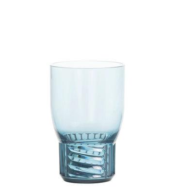 Tavola - Bicchieri  - Bicchiere Trama Medium - / H 13 cm di Kartell - Blu cielo - Tecnopolimero