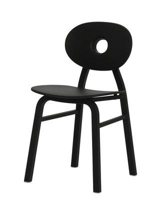Furniture - Chairs - Elipse Chair - / Aluminium & polypropylene by Zanotta - Black - Aluminium, Polypropylene