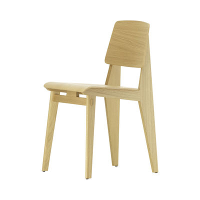 Furniture - Chairs - Tout Bois Chair - / By Jean Prouvé, 1941 by Vitra - Natural oak - Oak moulded plywood veneer, Solid oak