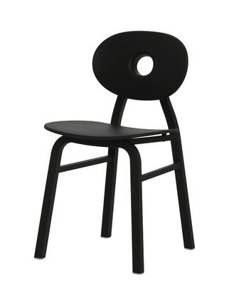 Chaise Elipse / Aluminium & polypropylène - Zanotta noir en métal