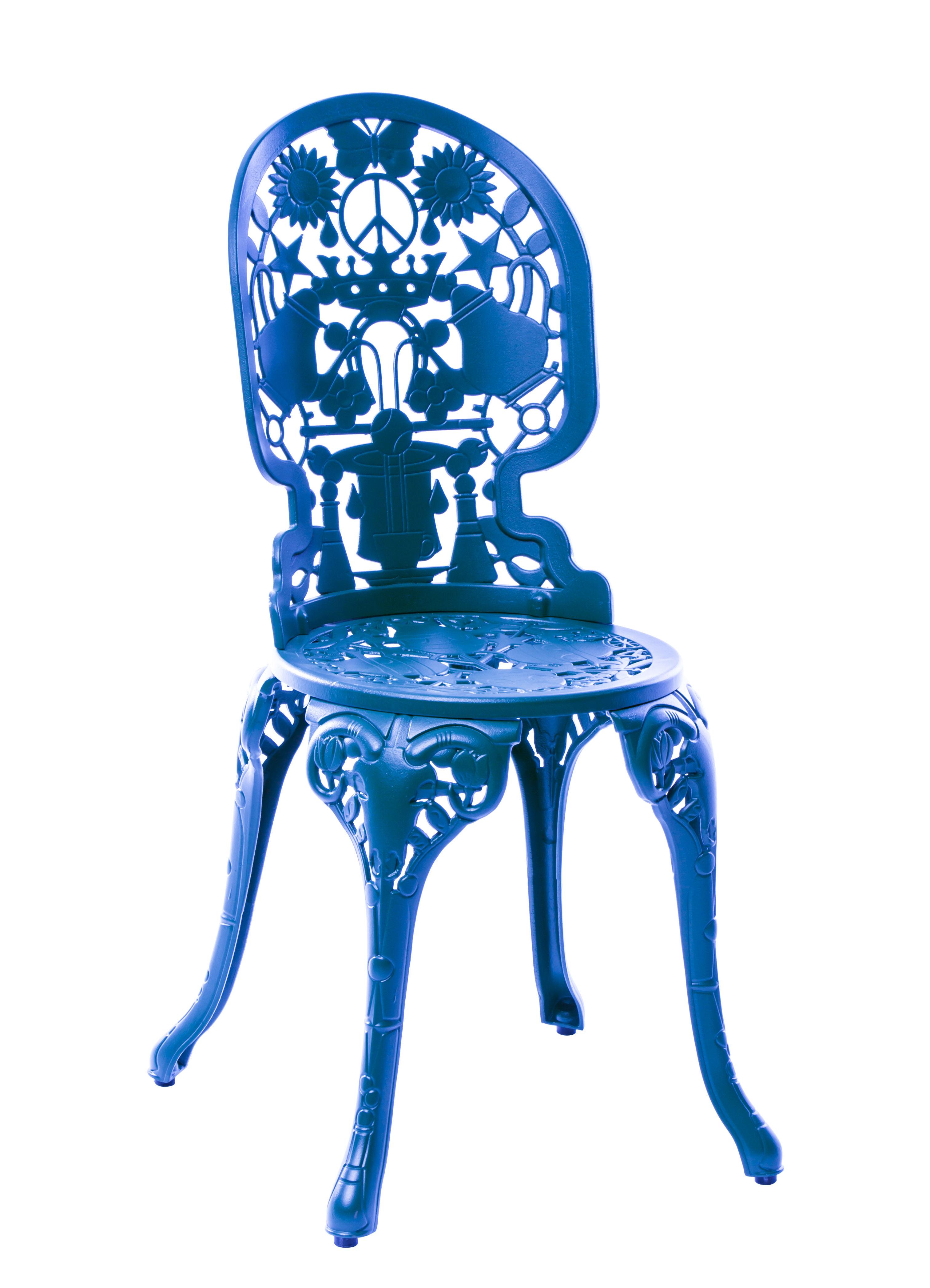 Mobilier - Chaises, fauteuils de salle à manger - Chaise Industry Garden / Métal ajouré - Seletti - Bleu ciel - Aluminium