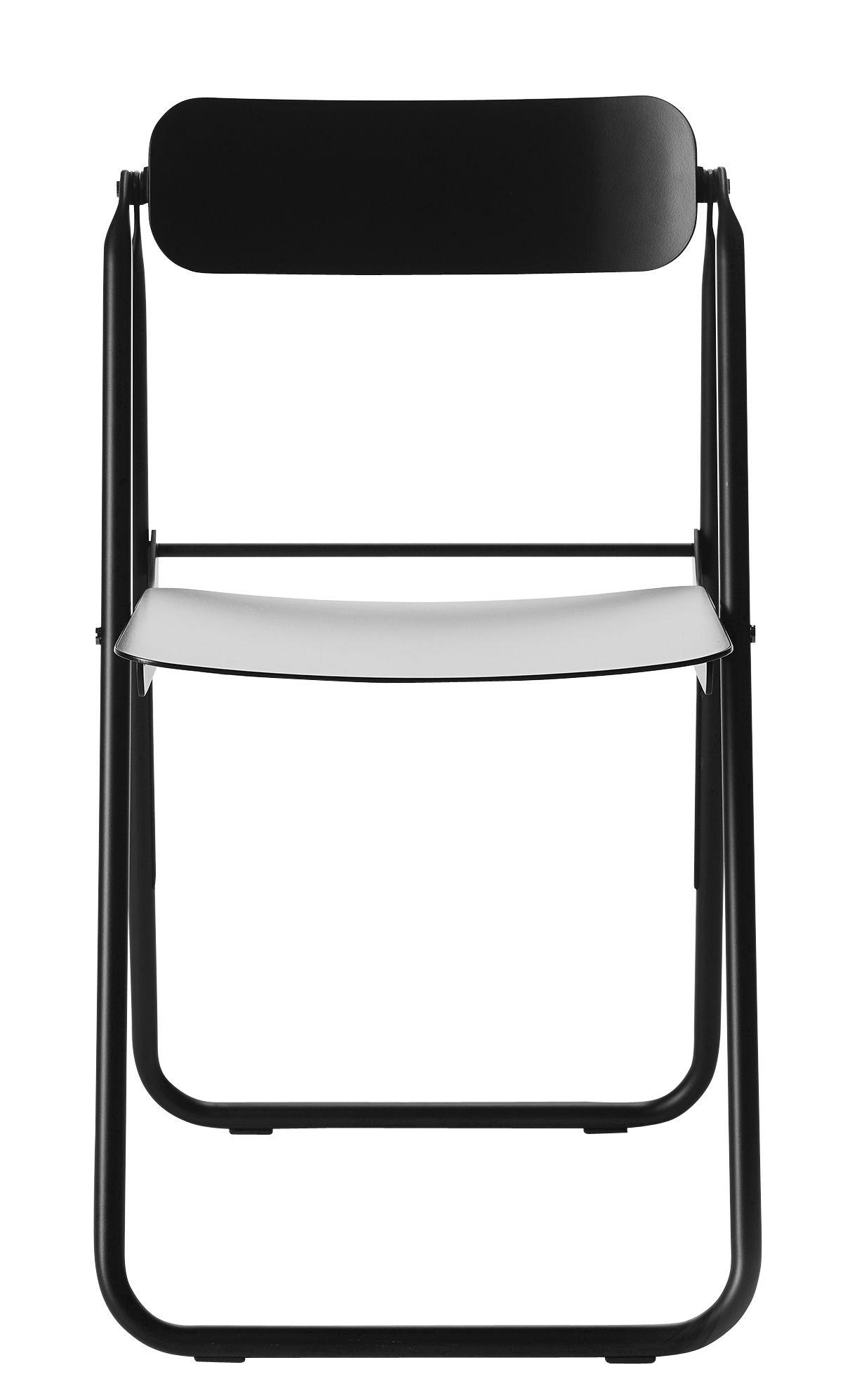Mobilier - Chaises, fauteuils de salle à manger - Chaise pliante Con.Fort / Aluminium - Opinion Ciatti - Noir - Aluminium peint