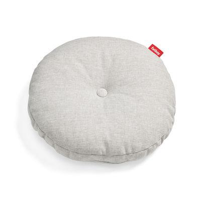 Déco - Coussins - Coussin d'extérieur Circle Pillow / Ø 50 cm - Fatboy - Brume - Mousse polypropylène, Tissu Olefin