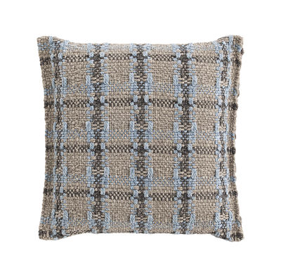 Coussin Garden Layers / Small - Tissé main - Gan bleu/gris en tissu