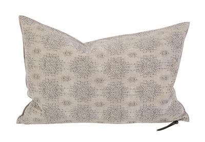 Decoration - Cushions & Poufs - Vice Versa Cushion - 40 x 60 cm - Jacquard by Maison de Vacances - Cement Kilim - Cotton, Duck feathers, Fair Isle