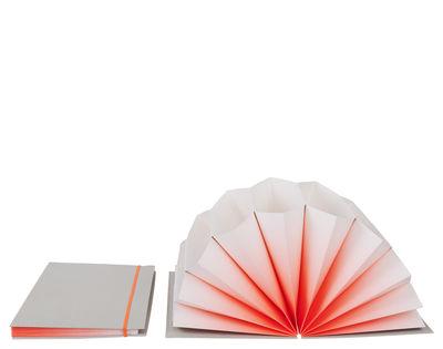 Dekoration - Büro - Plissè A4 Dokumentenmappe / Dokumentenmappe - 35 x 23 cm - Hay - Koralle / Umschlag hellgrau - Hartpappe, Papierfaser