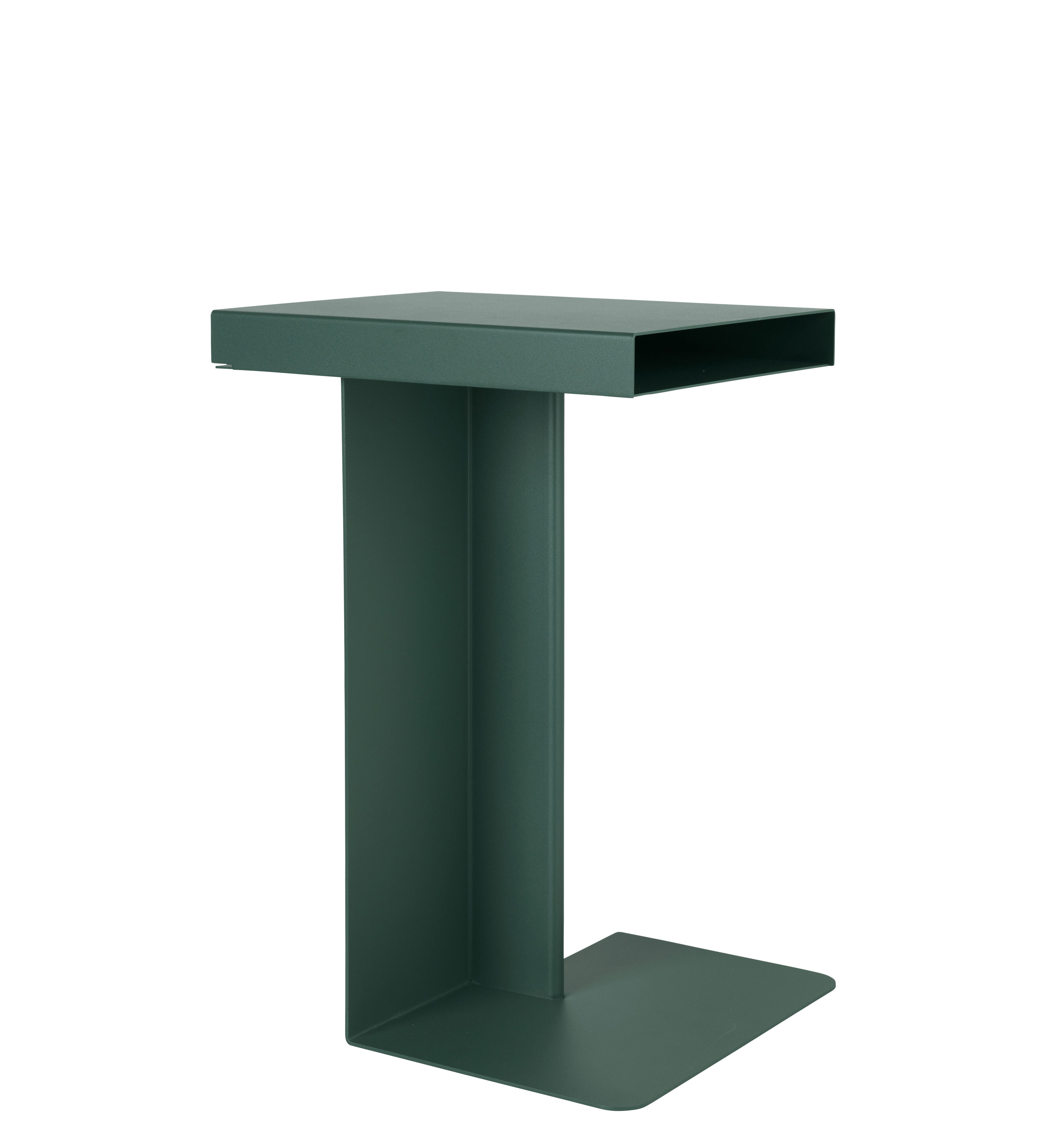 Furniture - Coffee Tables - Radar End table - / H 55 cm - Metal by Nomess - Fir tree green - Epoxy lacquered metal
