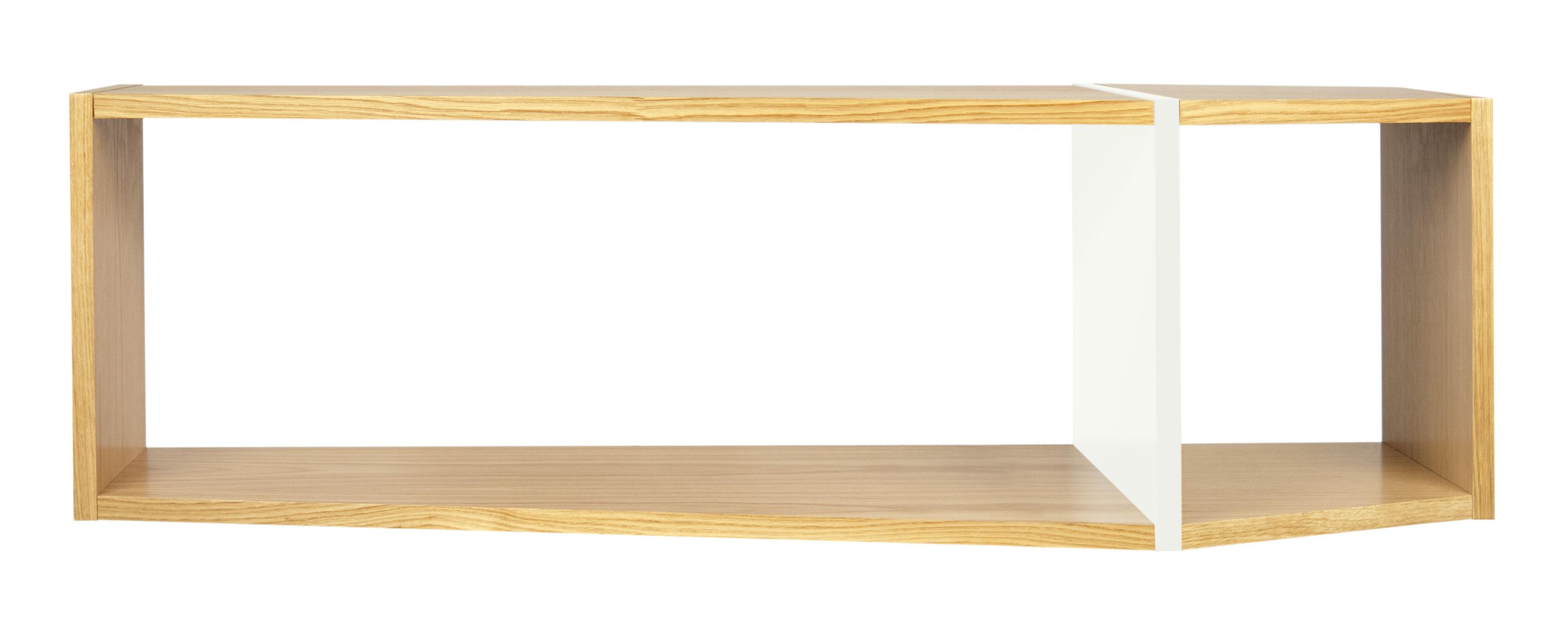 Mobilier - Etagères & bibliothèques - Etagère Rectangular / L 120 x H 35 cm - POP UP HOME - Chêne / blanc - Aggloméré, MDF