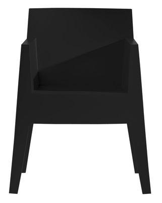 Fauteuil empilable Toy Driade noir en matière plastique