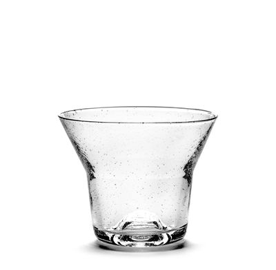 Tableware - Wine Glasses & Glassware - Small Glass - / Ø 10 x H 8 cm by Serax - H 8 cm / Transparent - Recycled glass