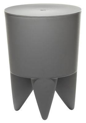 Möbel - Möbel für Teens - New Bubu 1er Hocker Opak - XO - Mausgrau - Polypropylen
