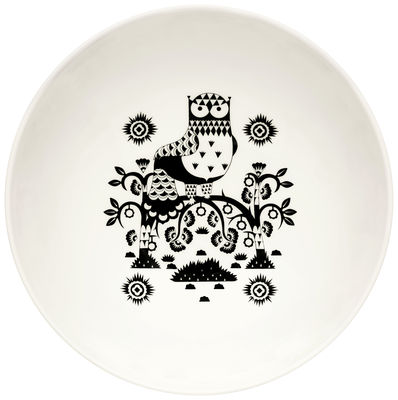Tavola - Ciotole - Insalatiera Taika / 1,45 L - Iittala - Nero / Bianco - Porcellana