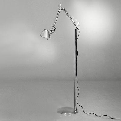 Lampadaire Tolomeo micro LED Floor - Artemide métal brillant,métal mat en métal