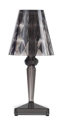 Luminaire - Lampes de table - Lampe sans fil Battery LED / H 22 cm - Recharge USB - Kartell - Fumé - PMMA