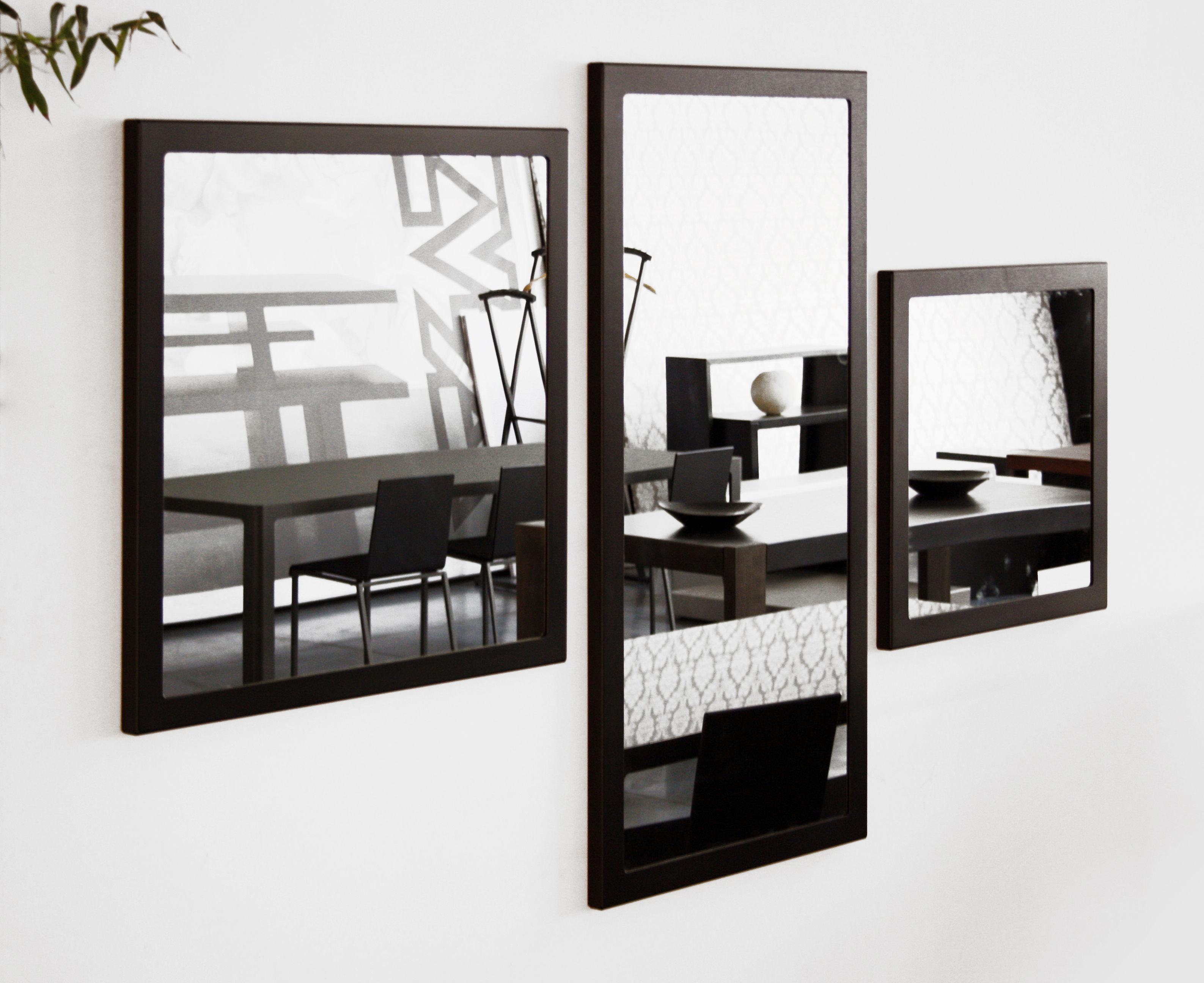 Miroir mural little frame 60 x 60 cm blanc demi opaque zeus for Miroir mural original