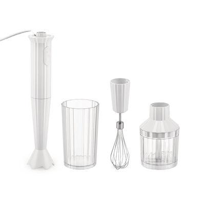 Mixer plongeant Plissé / 500 W - Avec bol gradué, hachoir & fouet - Alessi blanc en matière plastique
