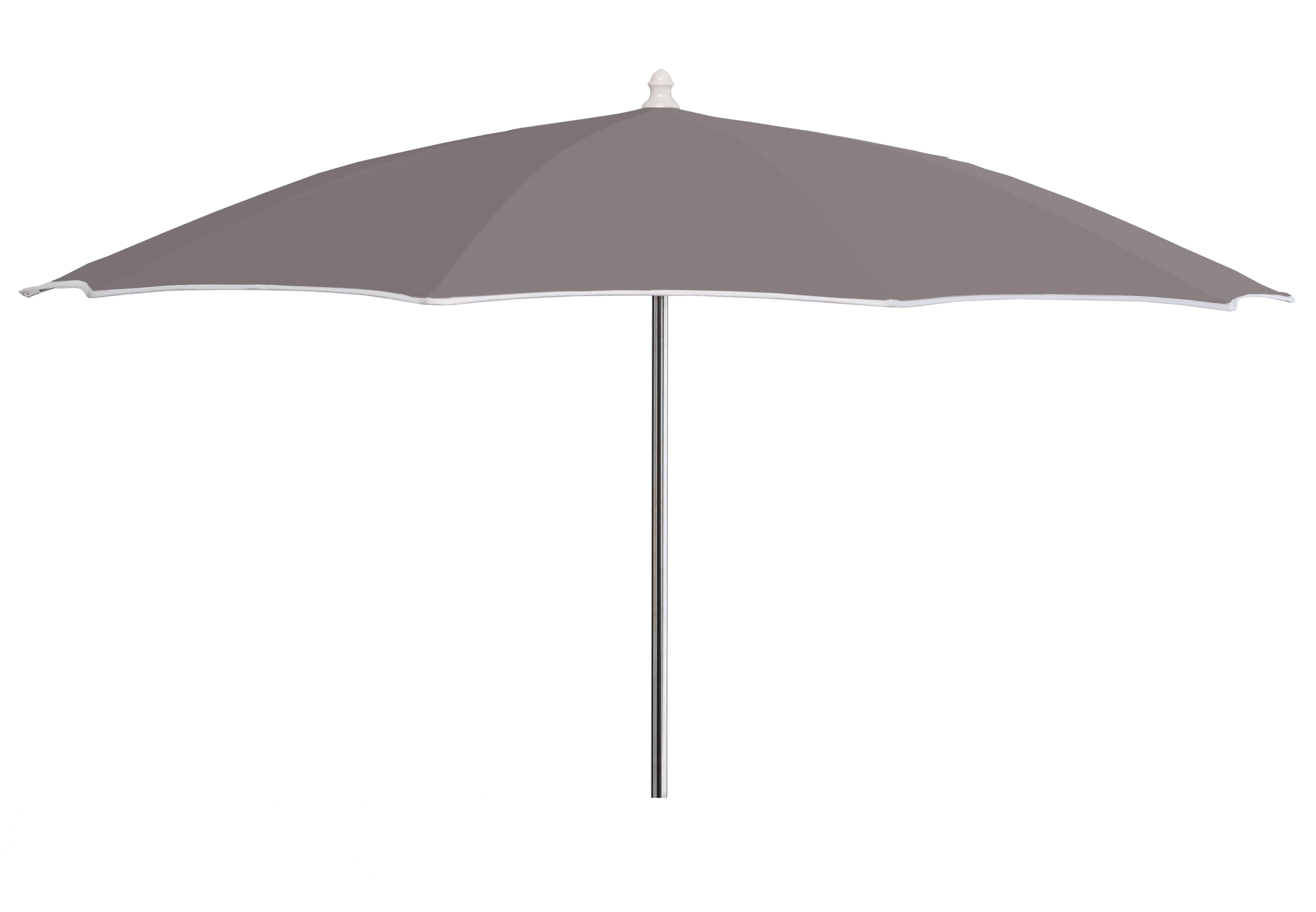 Outdoor - Parasols - Aluminium Parasol - Ø 200 cm by Vlaemynck - Grey - Lacquered aluminium, Sunbrella canvas