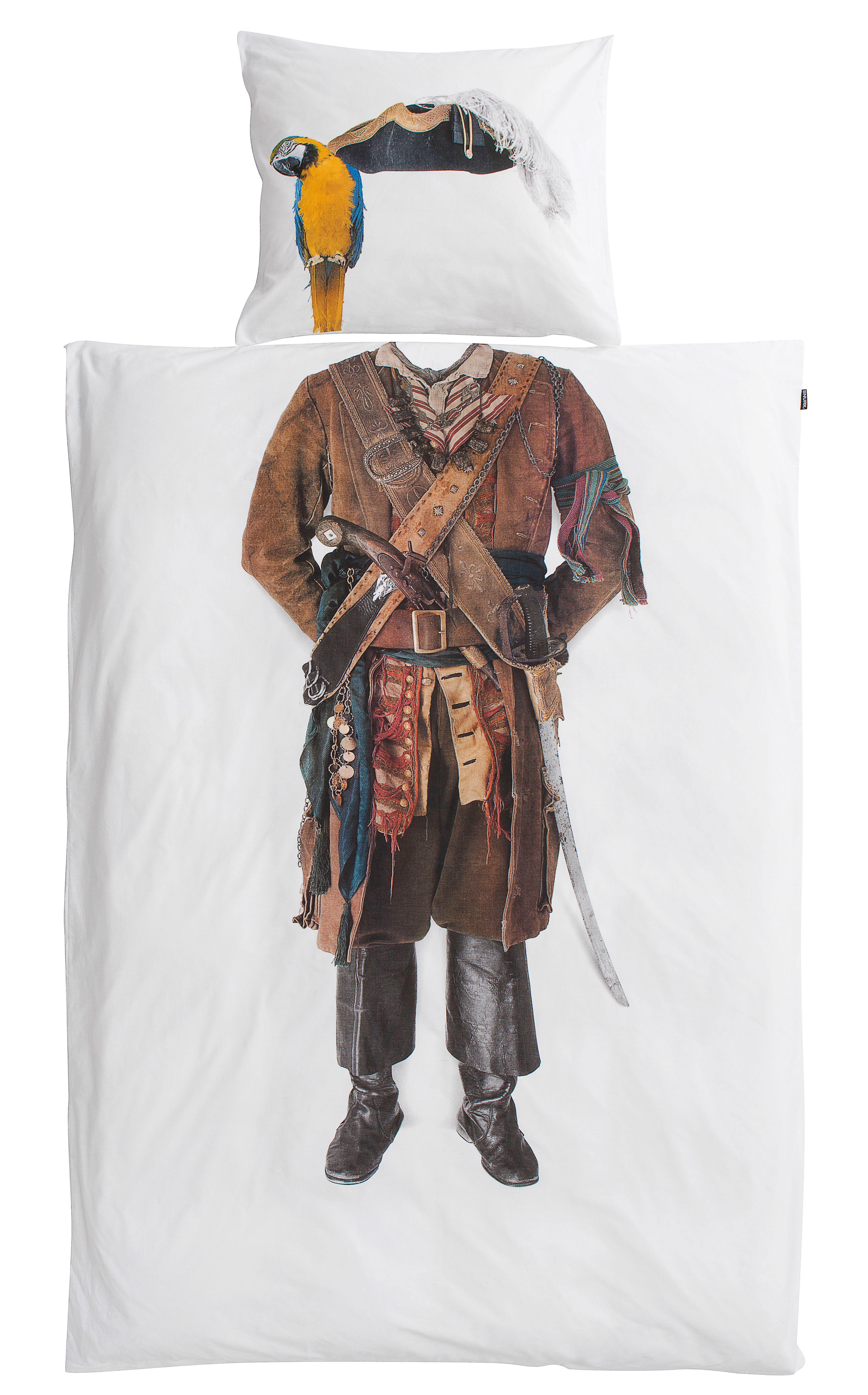 Déco - Pour les enfants - Parure de lit 1 personne Pirate / 140 x 200 cm - Snurk - Pirate - Percale de coton