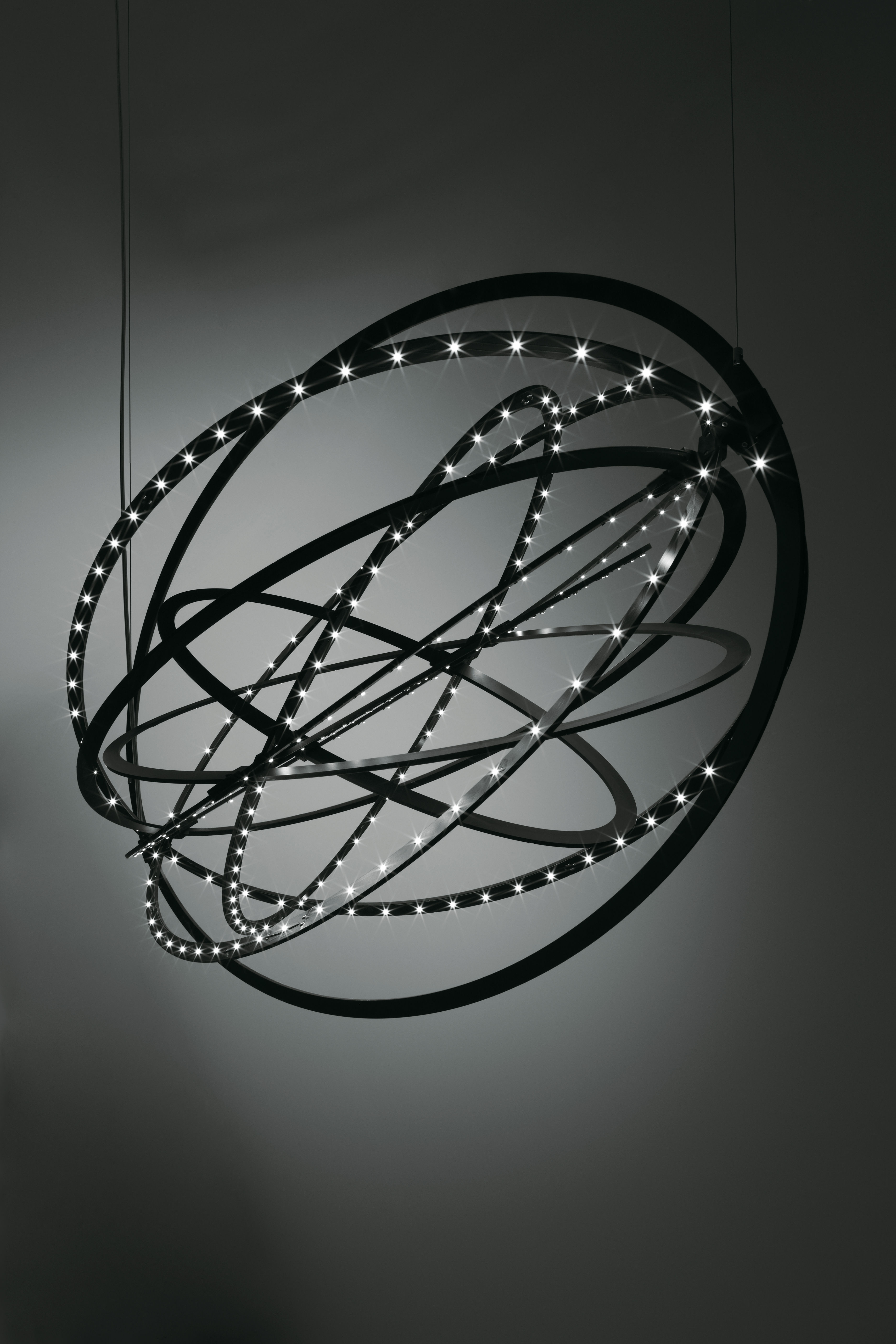 Lighting - Pendant Lighting - Copernico Pendant - LED - Modular - Ø 104 cm by Artemide - Black - Painted aluminium