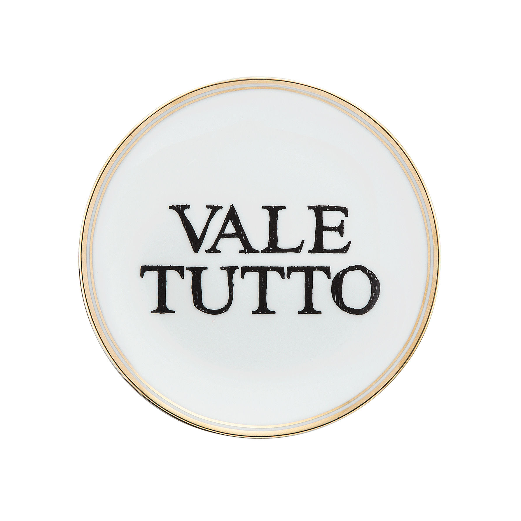 Tavola - Piatti  - Piatto da dessert Vale tutto - / Ø 15 cm di Bitossi Home - Vale tutto - Porcellana