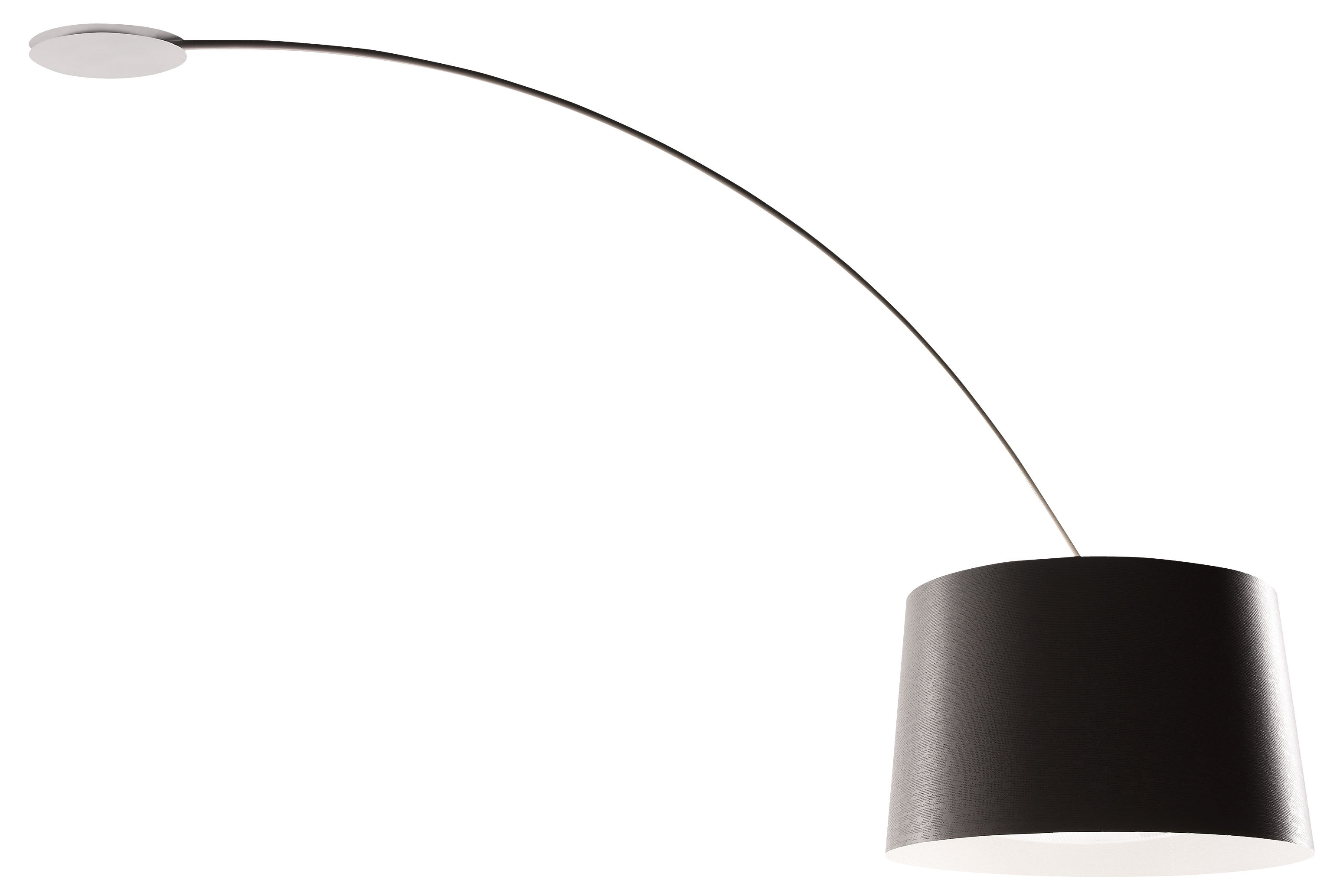Luminaire - Suspensions - Plafonnier Twiggy / Rotatif - Foscarini - Noir - Fibre de verre, Matériau composite