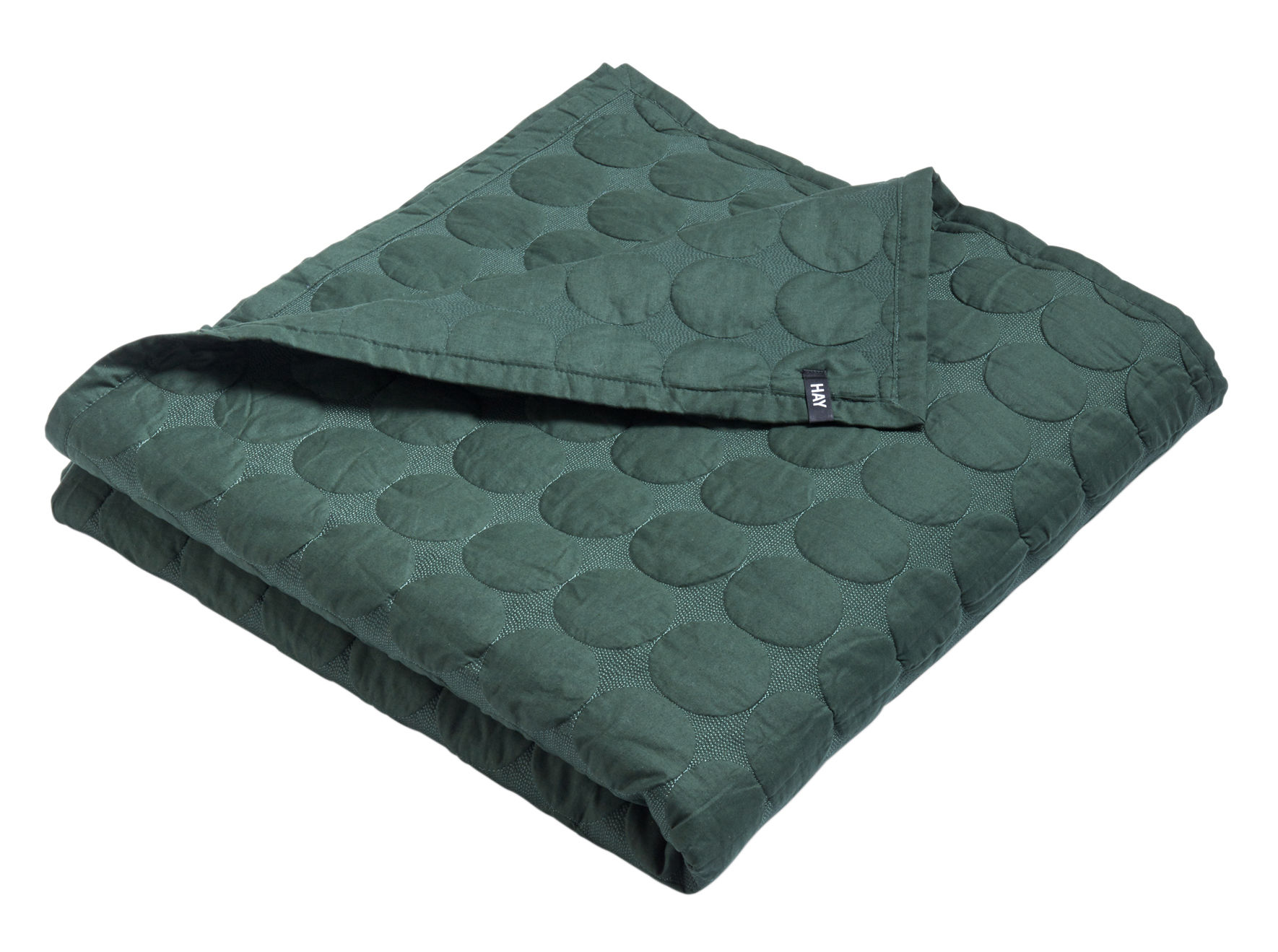Decoration - Bedding & Bath Towels - Mega Dot Plaid - / 245 x 195 cm - Quilted by Hay - Dark green - Cotton, Polyester