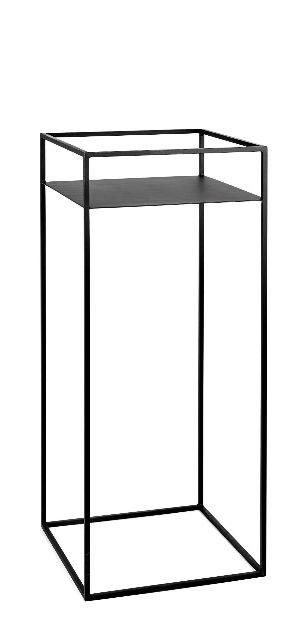 Furniture - Coffee Tables - Plant stand - / Small table - 39 x 39 cm x H 90 cm by Serax - Black - Lacquered metal