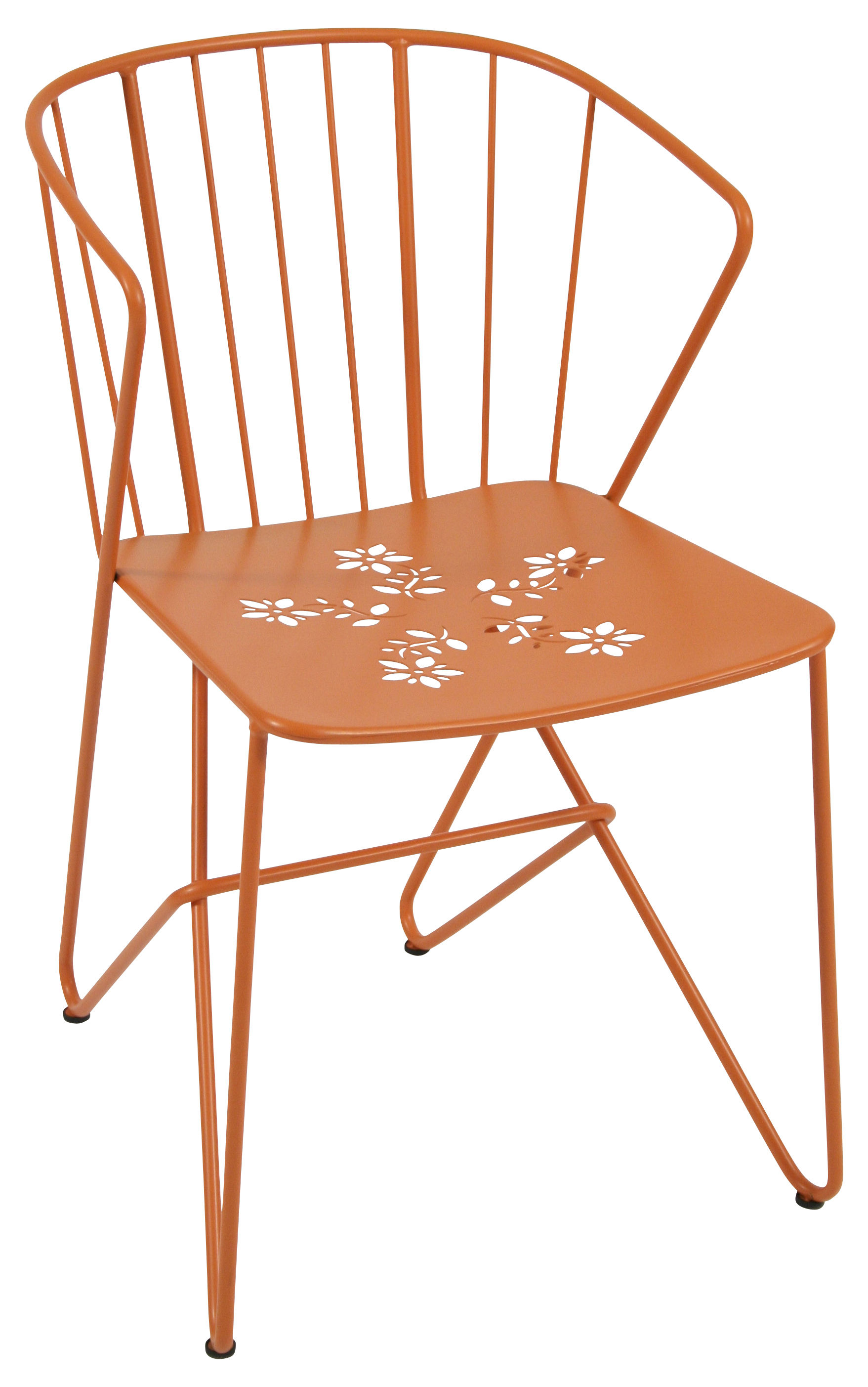 Arredamento - Sedie  - Poltrona Flower di Fermob - carota - Acciaio