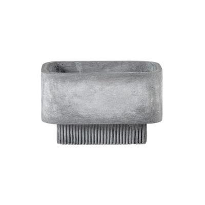Pot de fleurs Highlands Small / 42 x 24 cm - Fibre ciment - Bolia gris en pierre