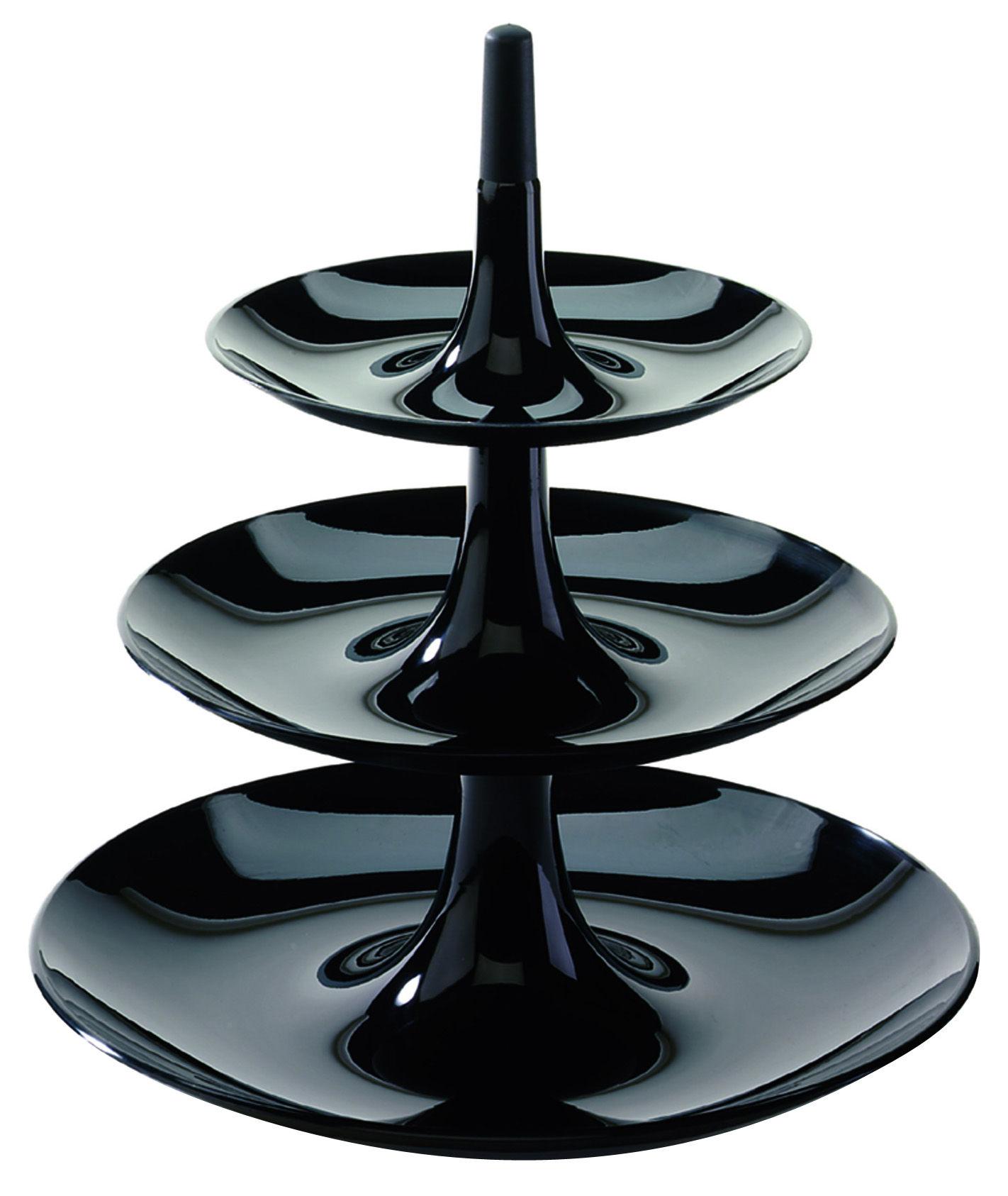 Tableware - Serving Plates - Babell Presentation dish - Ø 31,4 x H 34 cm by Koziol - Black - Polypropylene