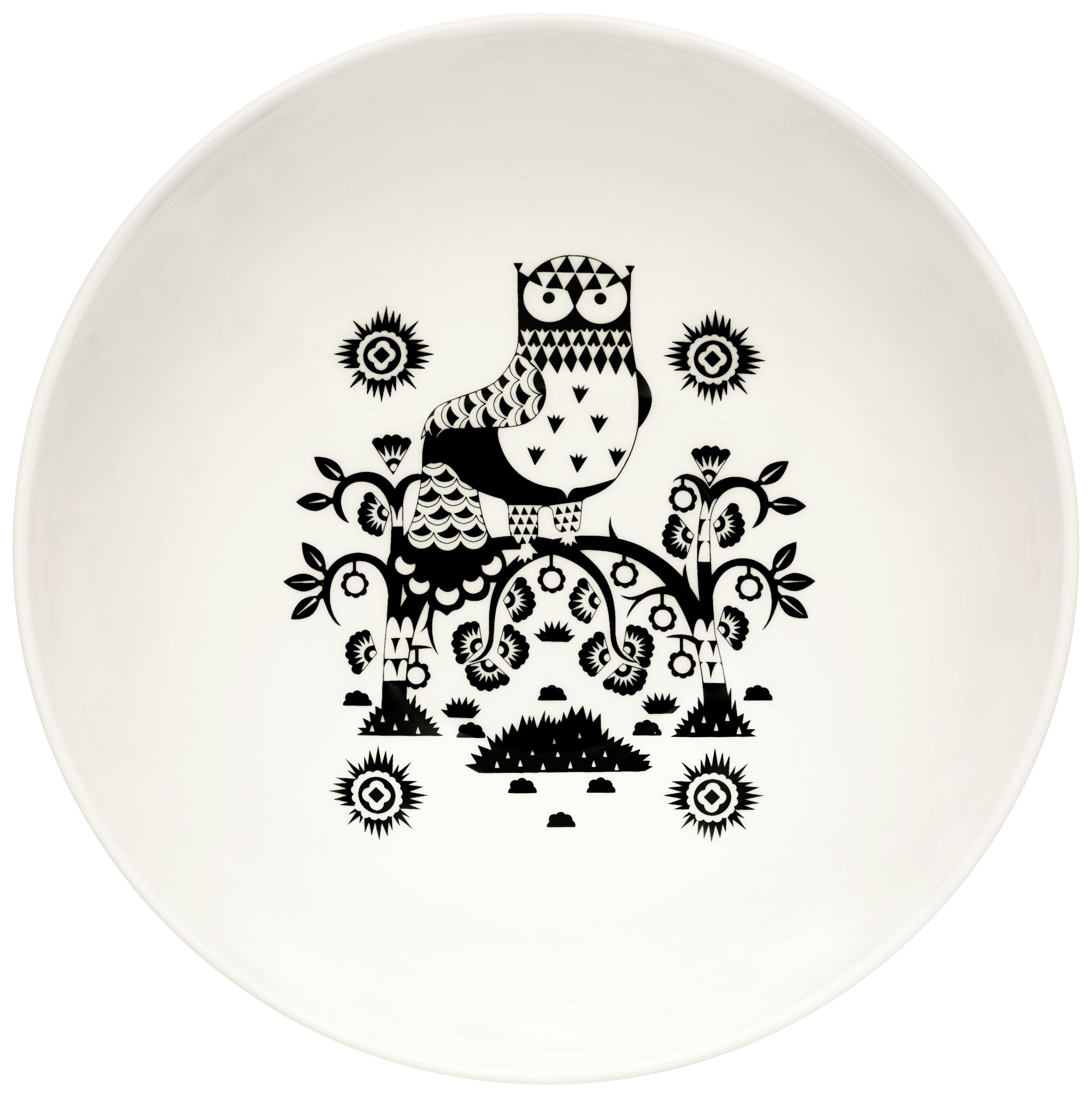 Tischkultur - Salatschüsseln und Schalen - Taika Salatschüssel / 1,45 l - Iittala - Schwarz / weiß - Porzellan
