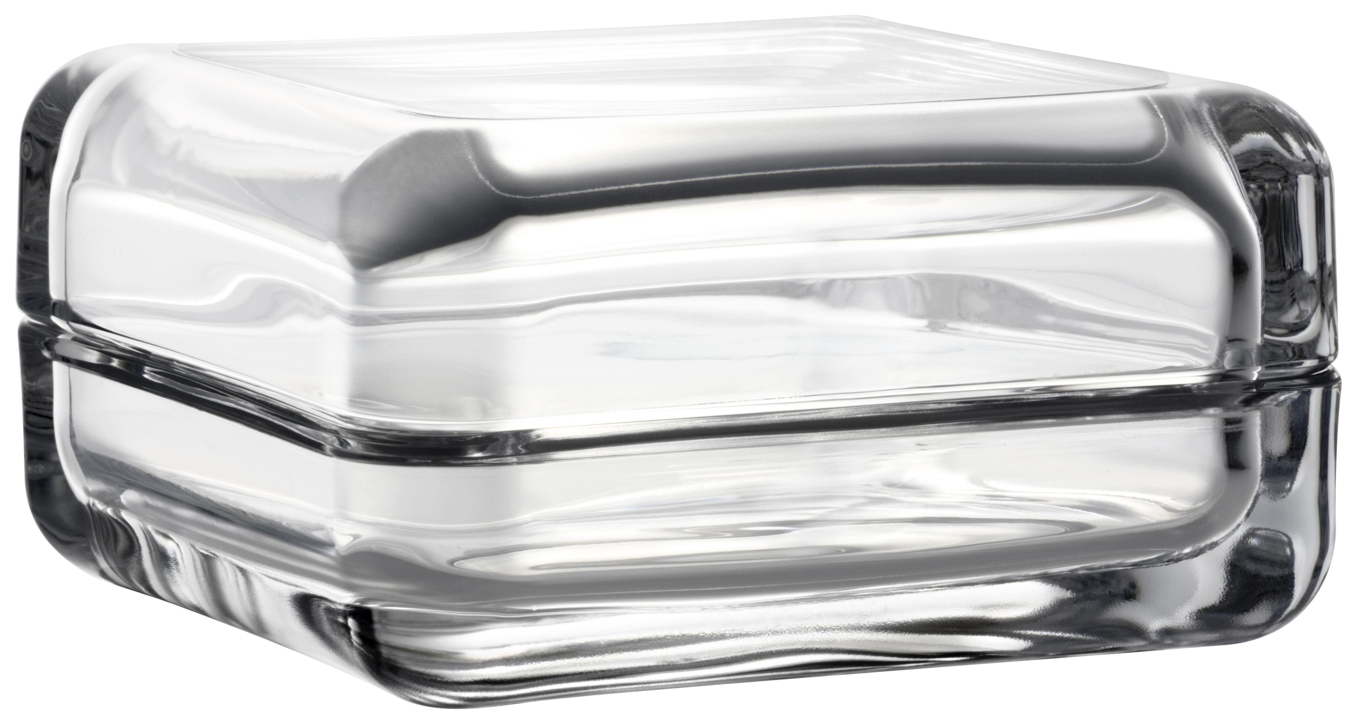 Interni - Scatole déco - Scatola Vitriini / 11 x 11 cm - Iittala - Trasparente - Vetro