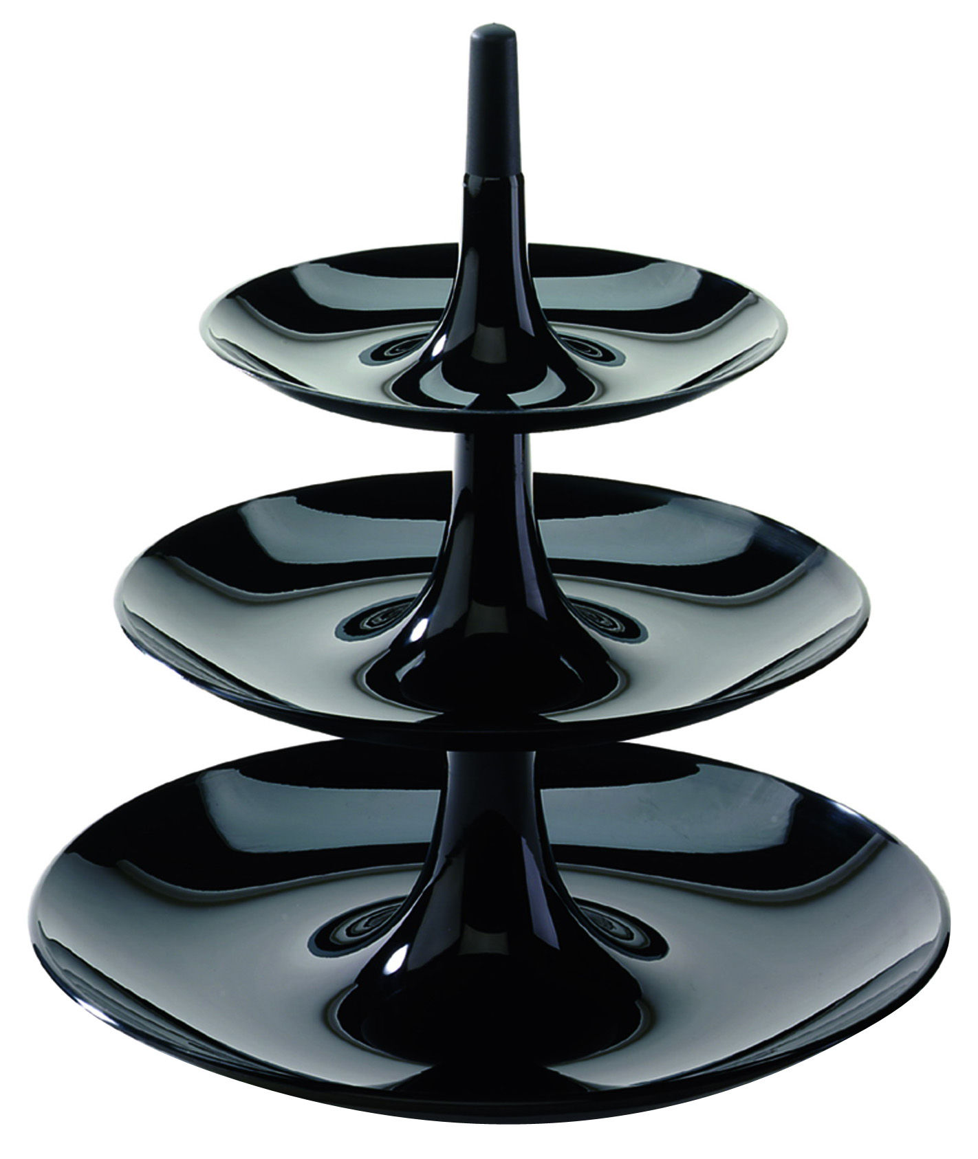 Arts de la table - Plats - Serviteur Babell / Ø 31,4 x H 34 cm - Koziol - Noir opaque - Polypropylène