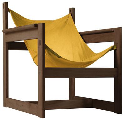Pelicano Sessel - Objekto - Gold,Holz dunkel