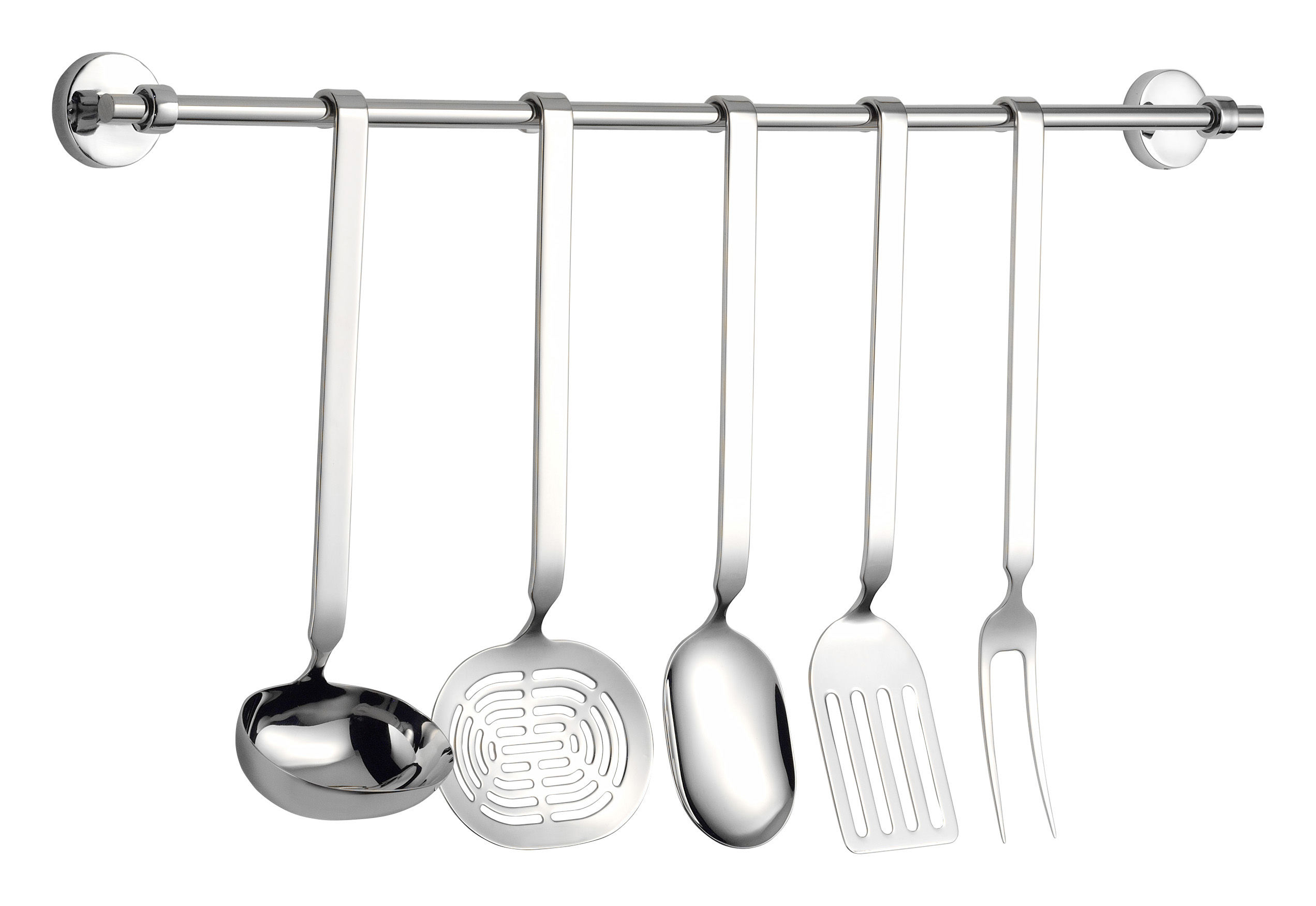Cuisine - Ustensiles de cuisines - Set ustensiles de cuisine Cinque Stelle / 5 pièces - Serafino Zani - Inox brillant - Acier inoxydable poli
