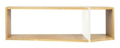 Furniture - Bookcases & Bookshelves - Rectangular Shelf - L 120 x H 35 cm by POP UP HOME - Oak / Matt white - Chipboard, MDF