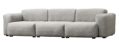 "Möbel - Sofas - Mags Soft Sofa 3-Sitzer / L 268 cm - Stoff ""Ruskin"" - Hay - Hellgrau - Contrecollé de pin, getönte Kiefer, Polyurethan-Schaum, Tissu Ruskin"